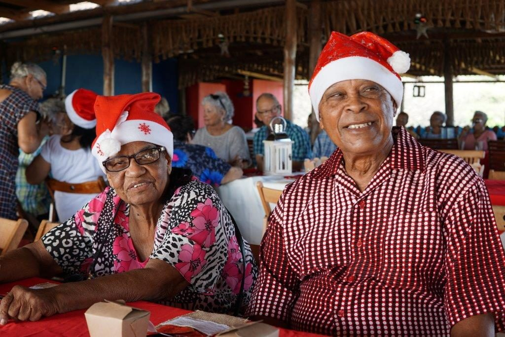 Year-end breakfast for elderly citizens leads to happy faces