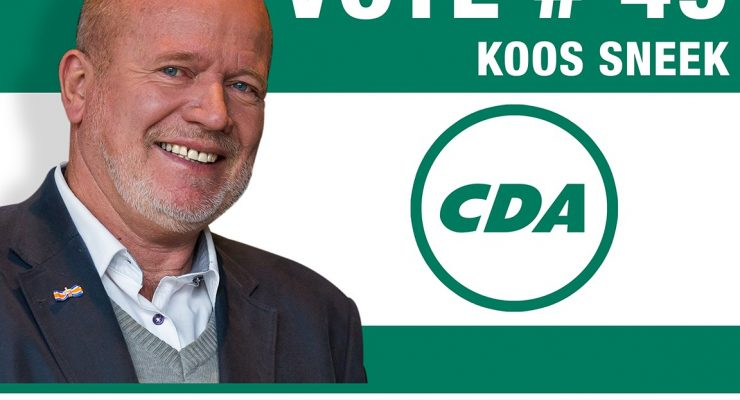 Koos Sneek is CDA candidate #49 for Second Chamber elections