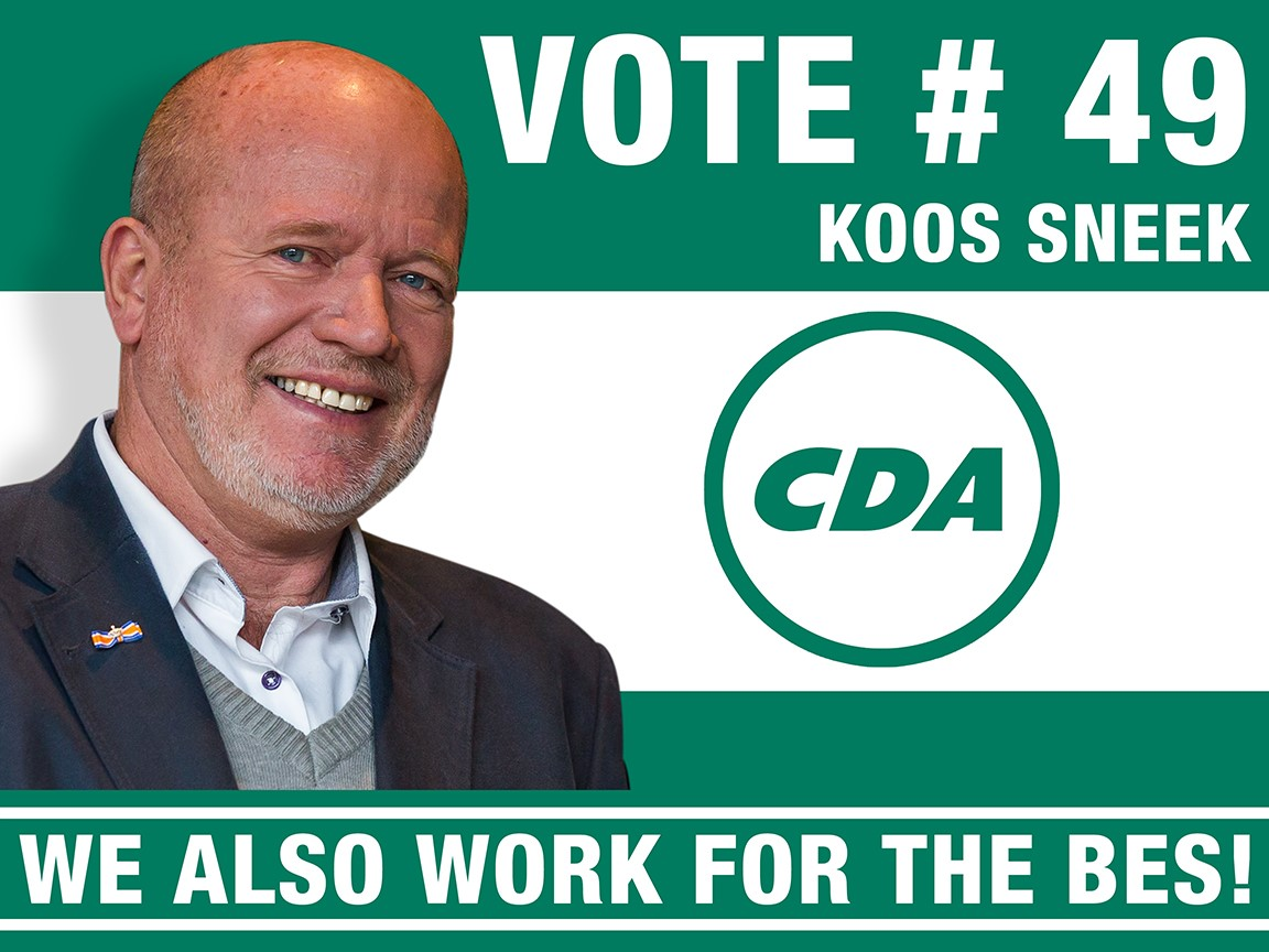 Koos Sneek on CDA-list for elections of Dutch Second Chamber