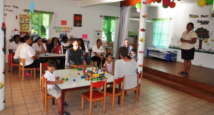 New Classroom at Laura Linzey Day Care Center Saba