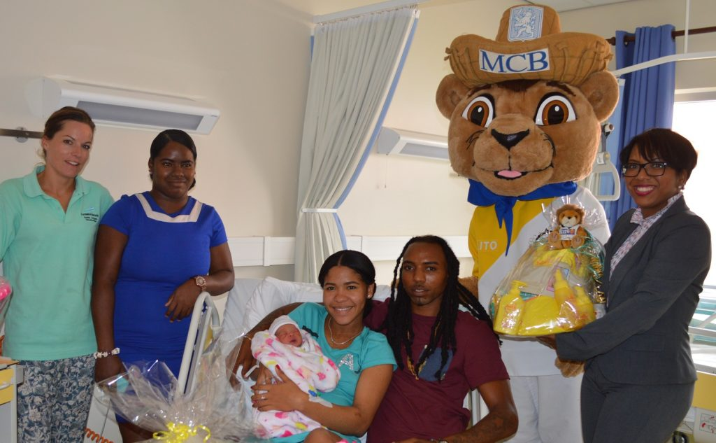 Niösha Jeanty firstborn baby on Bonaire