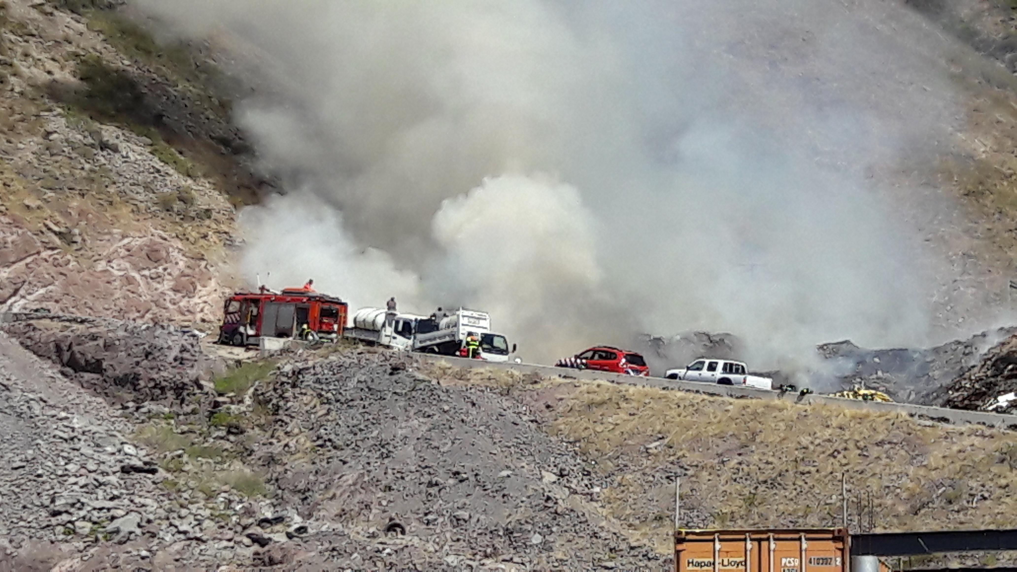 Fire at Landfill Saba