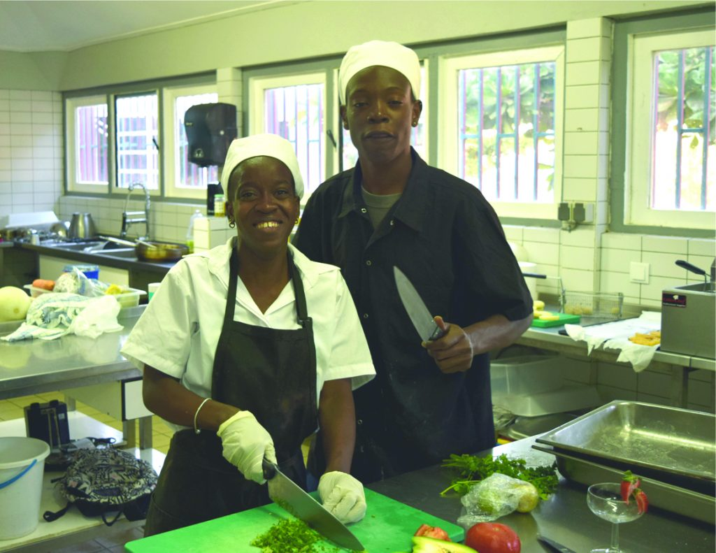 Statian students working hard to become professional Chefs