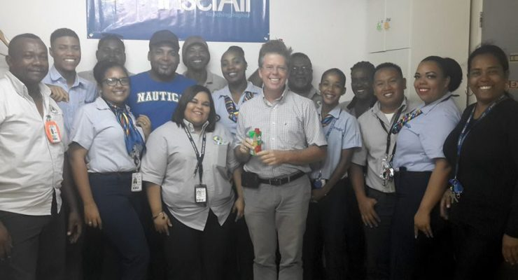 TCB gave the employees of Insel Air a gesture