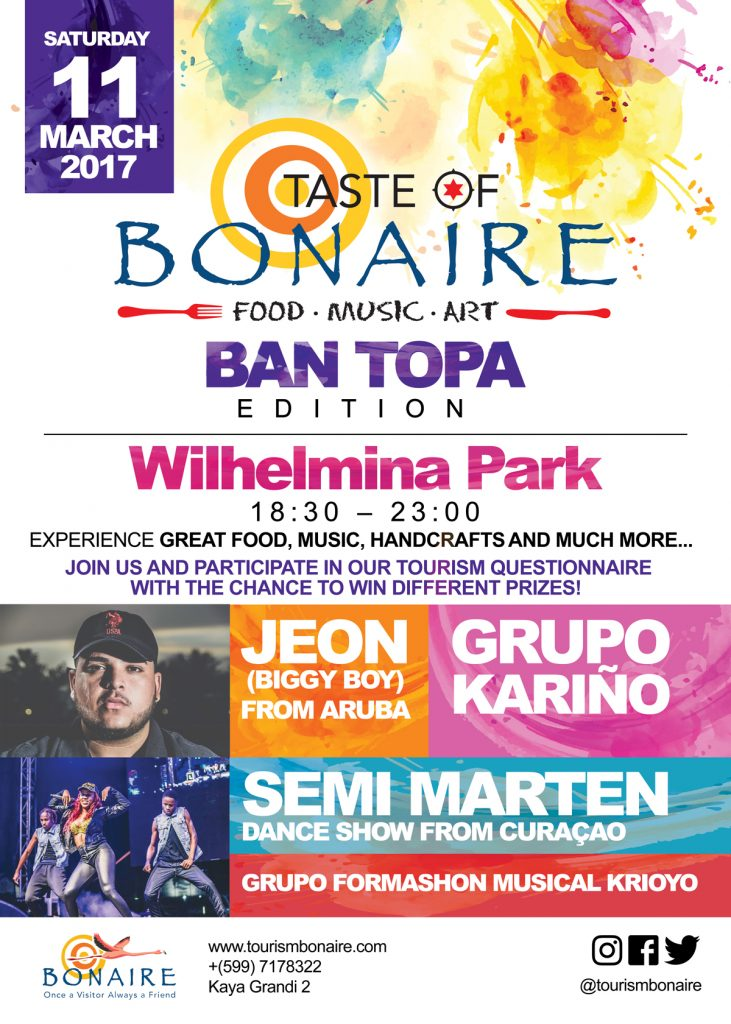 Tourism Corporation Bonaire is organizing the second Taste of Bonaire for 2017