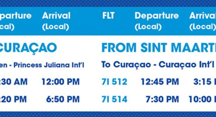 Curaçao – Sint Maarten service back to propeller planes