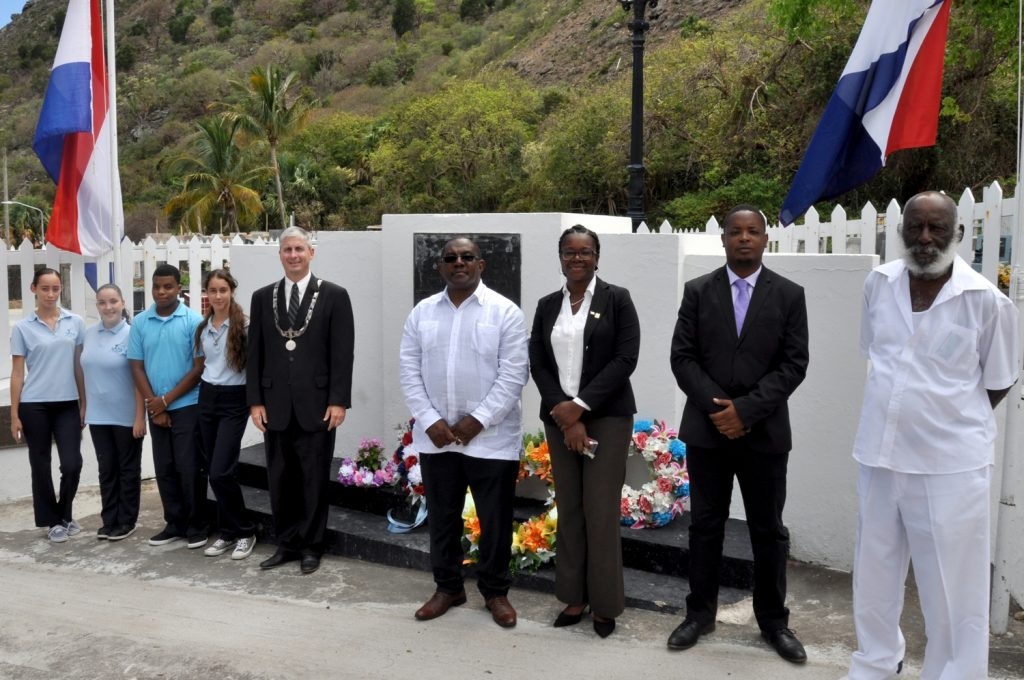 Memorial day commemorated on Saba