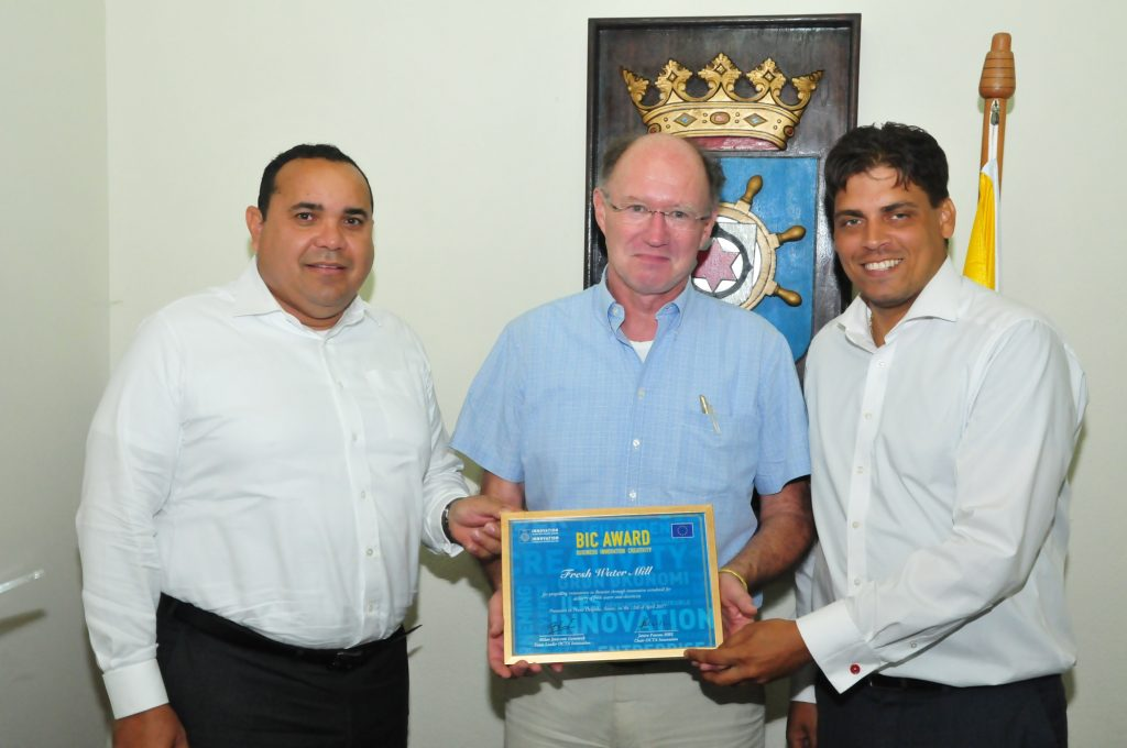 Bonaire wins BIC-award for innovative water supply idea remote areas