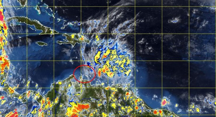Tropical Storm Bred veers to the North and decreases in intensity