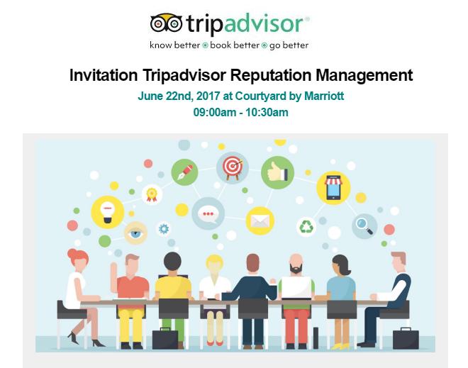 Tripadvisor reputation Management seminar June 22nd