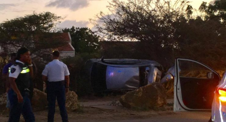 Female driver hurt in peculiar accident