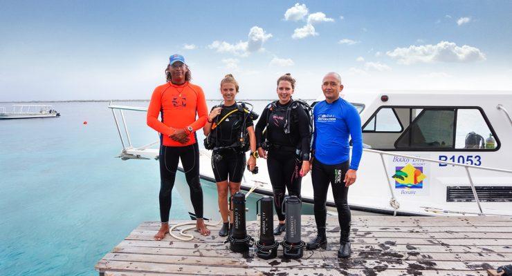 Miss Scuba Netherlands dives with Coral Restoration Bonaire