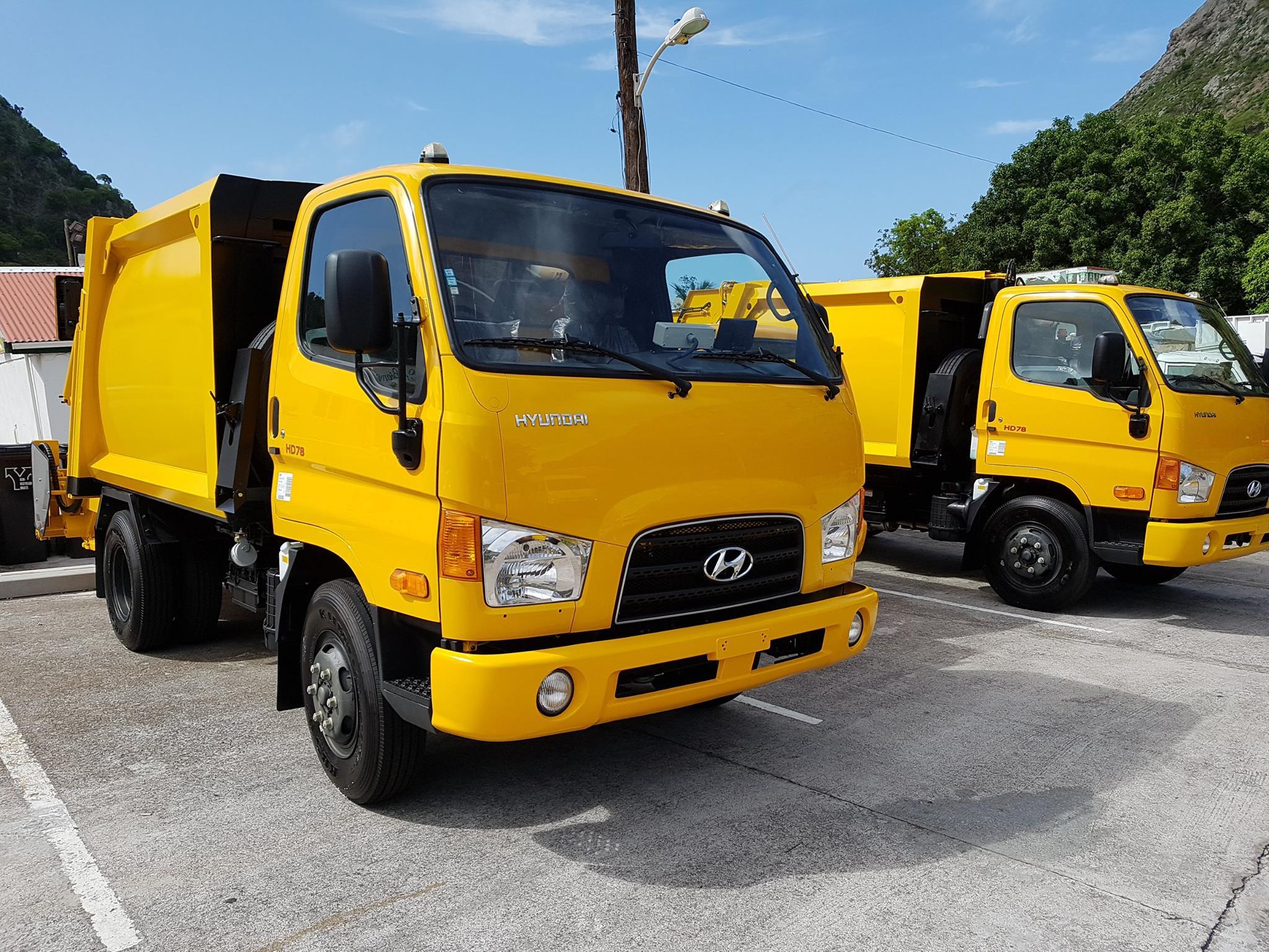 new garbage trucks Saba