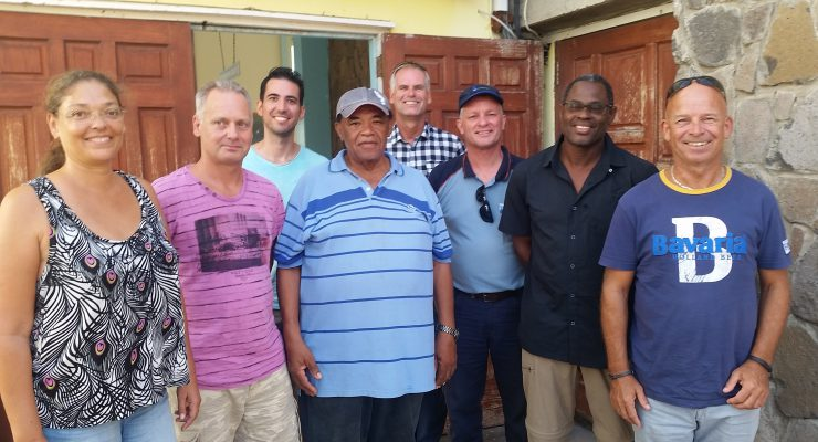 Volunteers from Bonaire on Statia