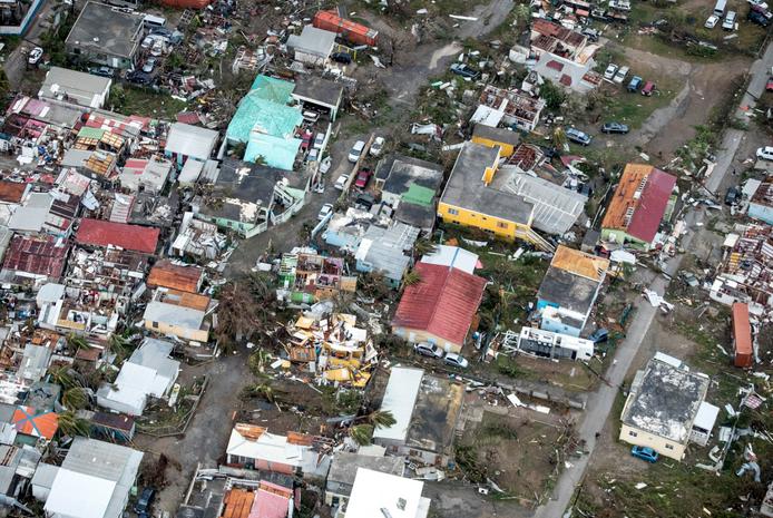 Luchtfoto Ravage Irma