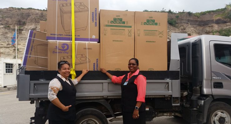 Durable goods for hurricane victims have arrived on Statia