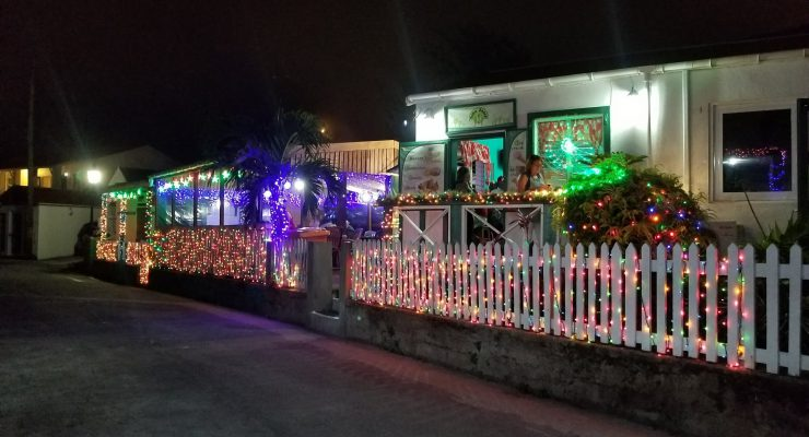 Christmas decorations give Saba festive look