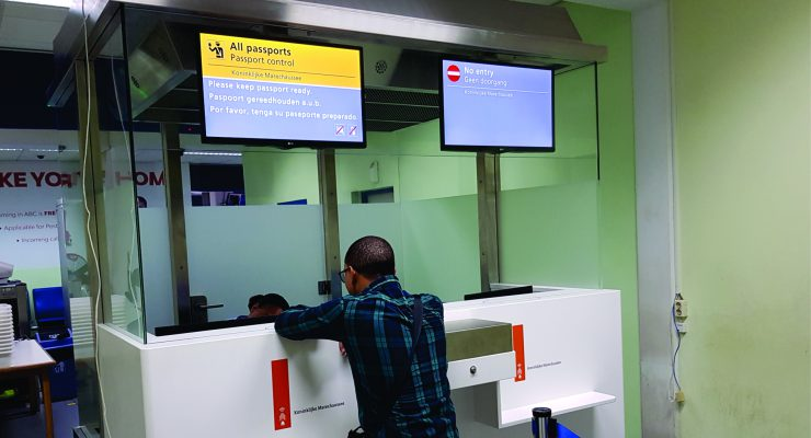 New Immigration counters for Flamingo Airport Bonaire