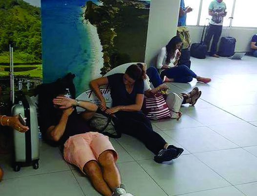 Large group of Winair passengers stuck in Haiti for second day