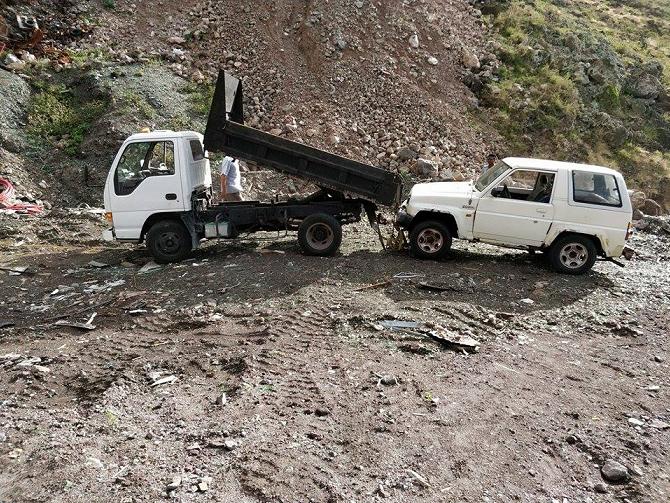 Car wrecks Saba