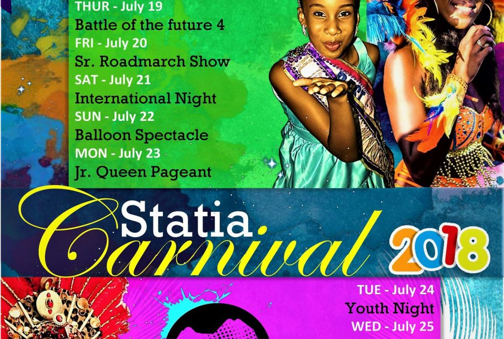 Schedule and Activities Known for 2018 Statia Carnival