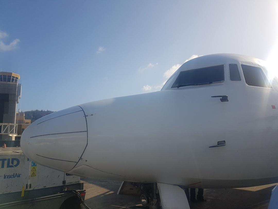 Fokker 50 neus foto Harald Linkels
