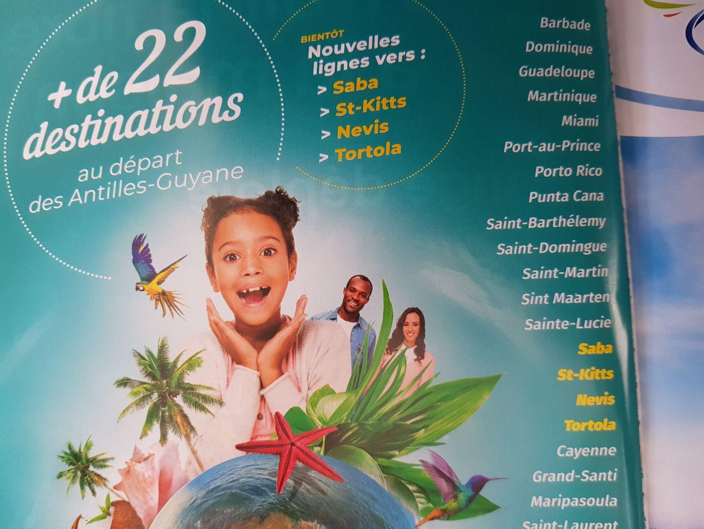 Statia missing in Air Antilles Magazin