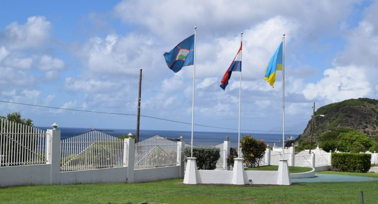 Flags in front of Government Building