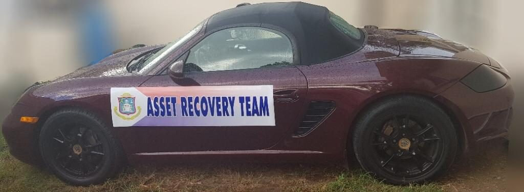 Porche confiscated by Asset Recovery Team
