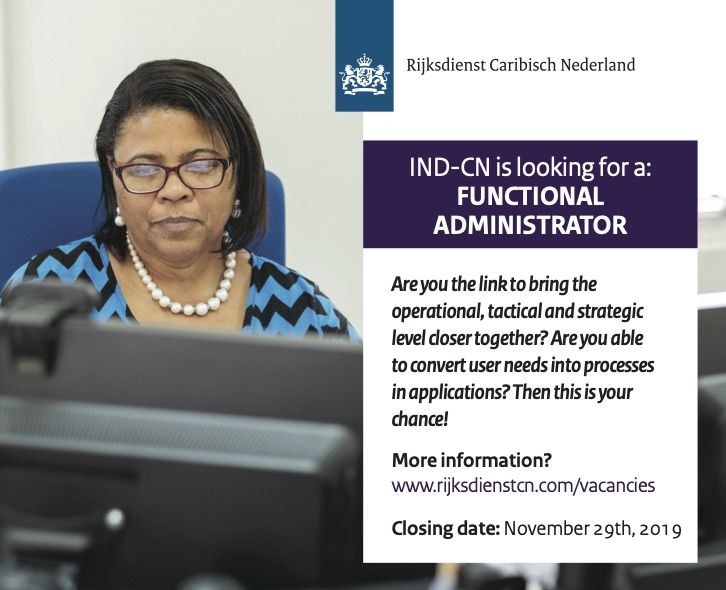 Vacancy Functional Administrator IND-CN