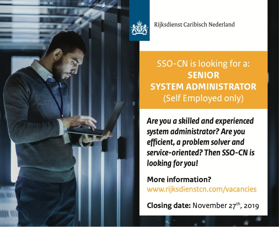 Vacancy Senior System Administration (self-employed only)