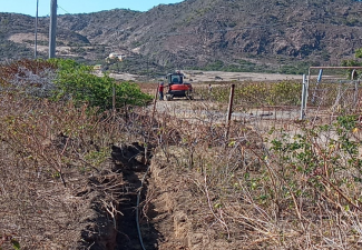 Statia places waterlines for farmers at Zeelandia