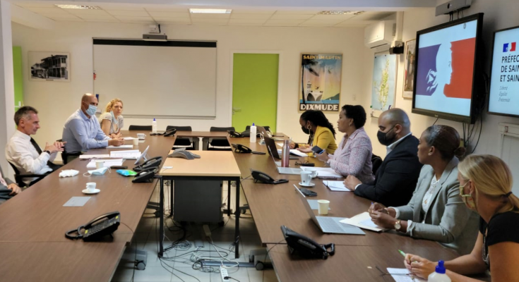 Jacobs and Gouteyron discuss health protocols and vaccination strategy St. Maarten/St. Martin