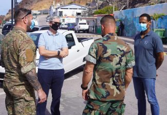 KNMI and Marines present on Saba for work on North Trail