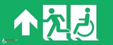 Inclusive pictogram escape routes is also introduced on Bonaire
