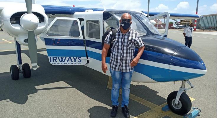 Clyde van Putten back on St. Eustatius