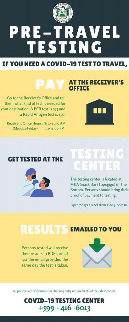 Saba Public Health Department has Opened a Central Testing Center