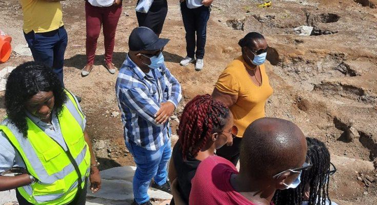 Statia Council members Visit Burial Grounds