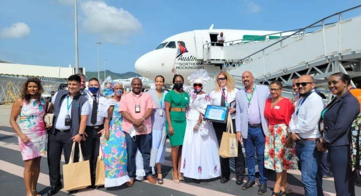 First Frontier Airlines Flight Arrives in St. Maarten