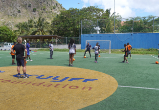 Saba youth train with Professional Coaches