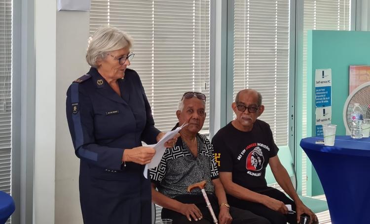 Belastingdienst Caribisch Nederland names reception hall after Larry Thomas