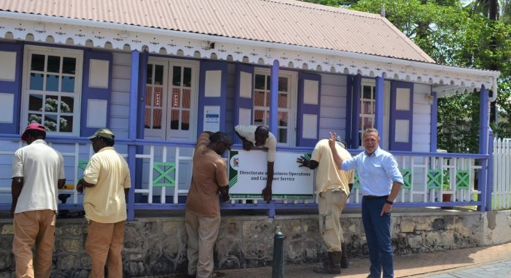 Business sign for all Government Units St. Eustatius