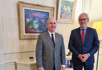 Saba's Governor Johnson pays Working Visit to The Netherlands
