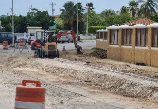 Road work started around Marina Trouble Spot